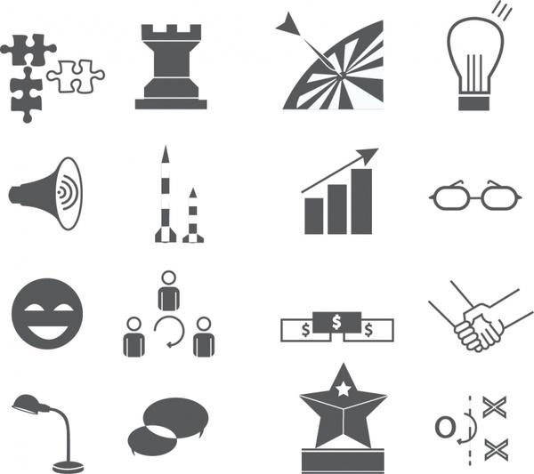 Marketing Icons Free vector in Adobe Illustrator ai ( .AI