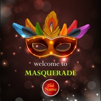 Masquerade party leaflet colorful classical mask bokeh ...