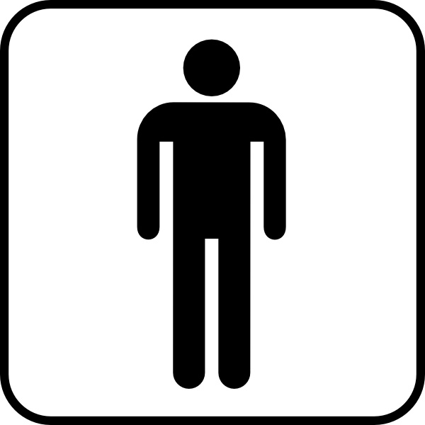 Mens Room clip art Free vector in Open office drawing svg  svg  vector illustration graphic