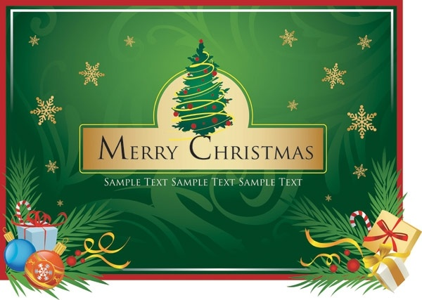 Merry Christmas Clip Art Free Vector In Encapsulated