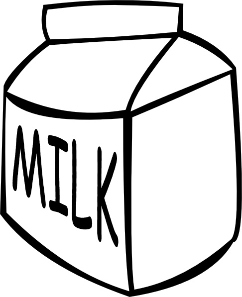Milk (b And W) clip art Free vector in Open office drawing