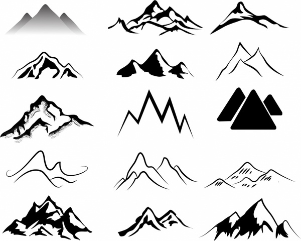 Mountains Free vector in Adobe Illustrator ai ( .AI