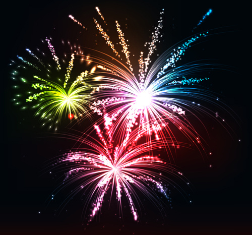 Cartoon Festival Fireworks Vector Free Vector Download