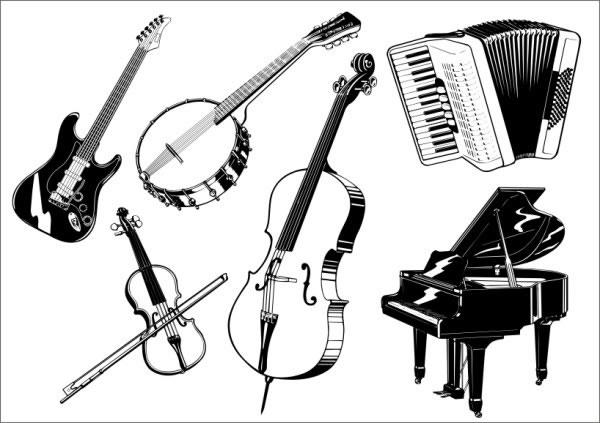 Musical instruments vector Free vector in Coreldraw cdr