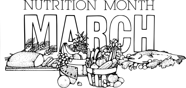 National Nutrition Month March clip art Free vector in