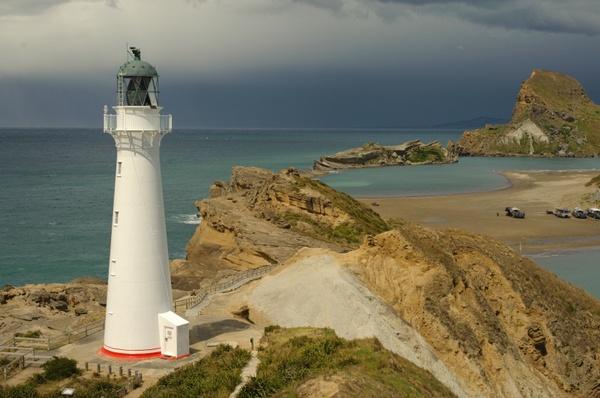 zealand landscape lighthouse