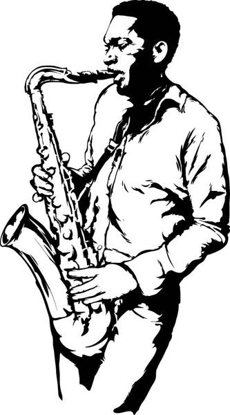 Vector saxophone free vector download (75 Free vector) for