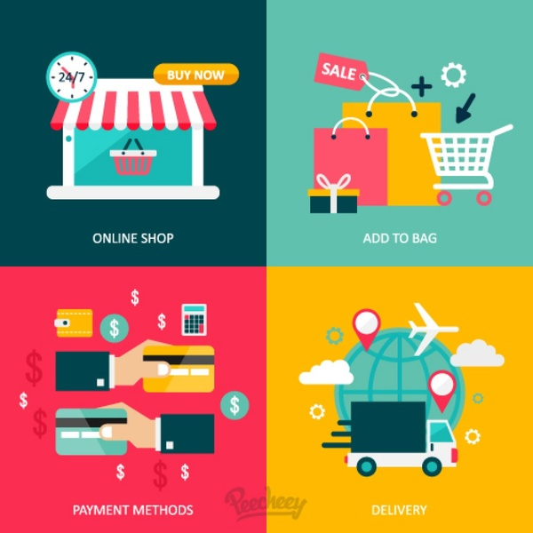 Online Shopping Concept Illustration Free Vector In Adobe