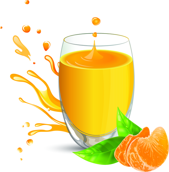 orange juice vector free