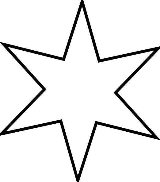 Outline Star clip art Free vector in Open office drawing