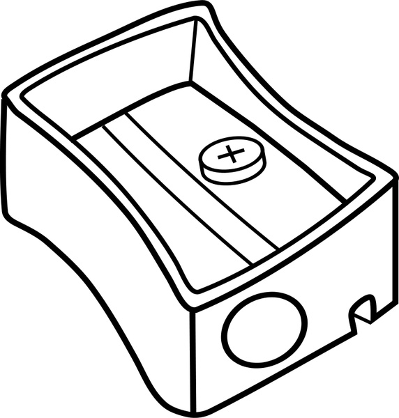 Pencil sharpener Free vector in Open office drawing svg