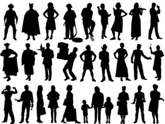 People Silhouette Free vector in Encapsulated PostScript eps eps vector illustration graphic art design format format for free download 607 18KB