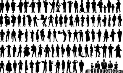 People silhouette Free vector in Adobe Illustrator ai ai vector illustration graphic art design format format for free download 796 57KB