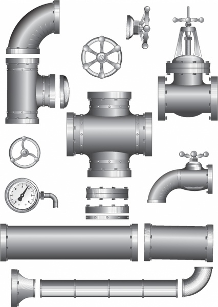 pipeline pipe vector clipart