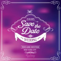 Purple wedding invitation Free vector in Adobe Illustrator