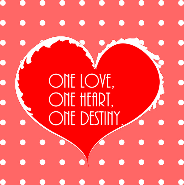 red valentine heart on dot background vector image