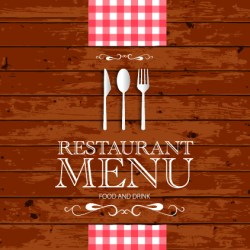 Restaurant menu with wood board background vector Free vector in Encapsulated PostScript eps eps vector illustration graphic art design format format for free download 1 64MB