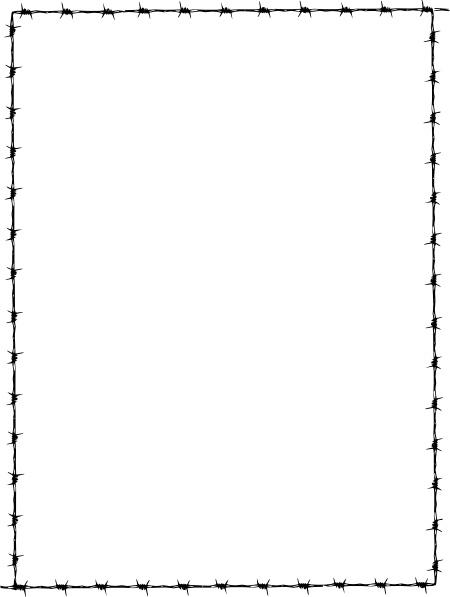 Revans Barbed Wire Border clip art Free vector in Open