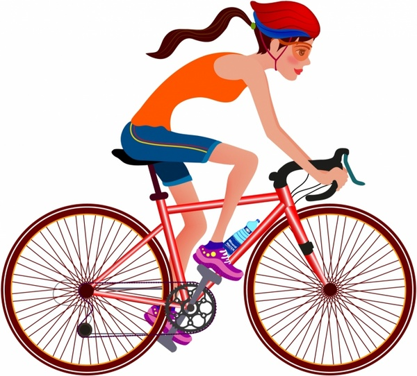 riding bicycle free vector