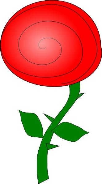 rose flower clip art free vector