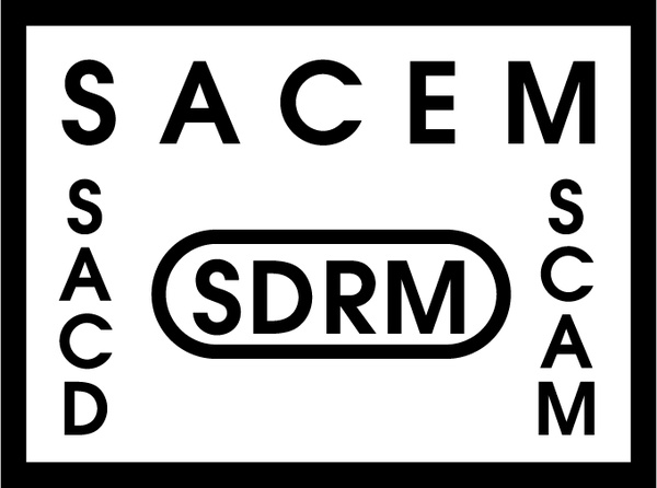 Sacem sdrm sacd scam Free vector in Encapsulated