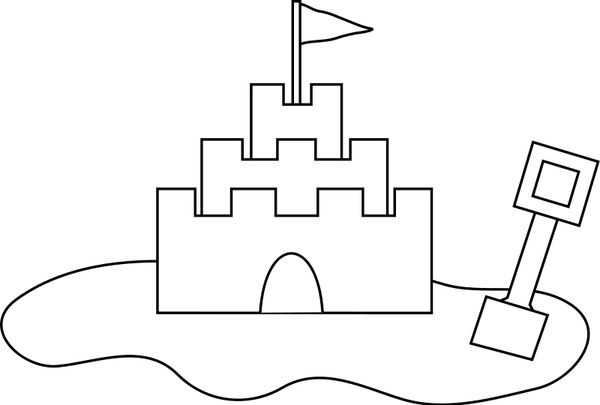 Sand castle Free vector in Open office drawing svg ( .svg