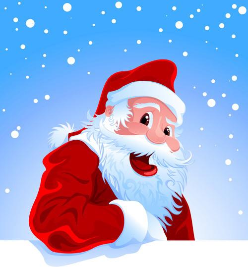 Santa Claus Happy Christmas Vector Free Vector In