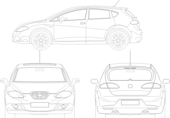 Seat Leon Free vector in Adobe Illustrator ai ( .ai