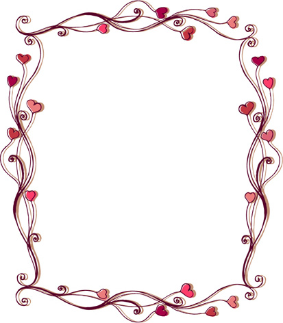 Set Of Heart Frame Vector Free Vector In Encapsulated