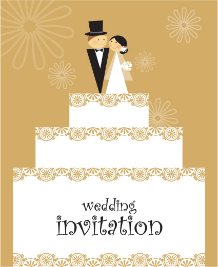 Set Of Wedding Invitation Cards Design Vector Free In Templates