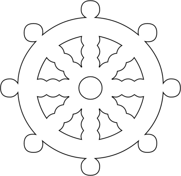 Ship Wheel Free vector in Open office drawing svg ( .svg
