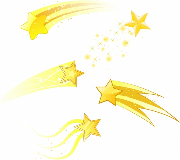 shooting stars free vector in adobe