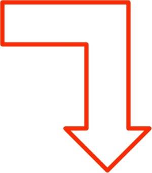 simple clip arrow arrows clipart cube svg pointing geeksvgs 32kb roter pfeil drawing office vektoren unten vektor nach bild icon