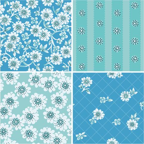 Simple Flower Frame Pattern Free Vector Download 31613