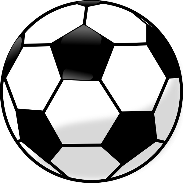 soccer ball clip art free vector