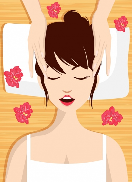 spa background relaxed woman