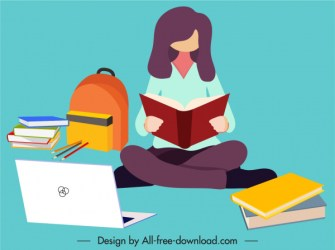 Student background studying woman sketch cartoon sketch Free vector in Adobe Illustrator ai ai format Encapsulated PostScript eps eps format format for free download 1 48MB