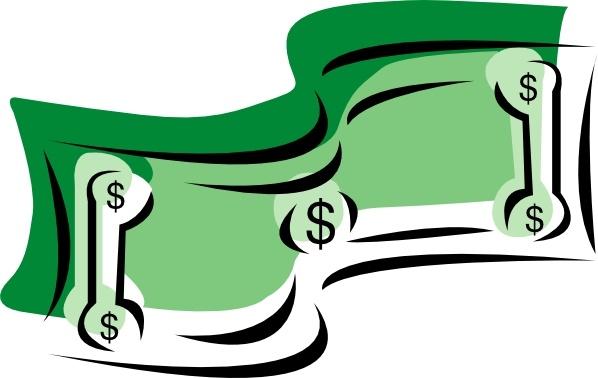 stylized dollar bill money clip