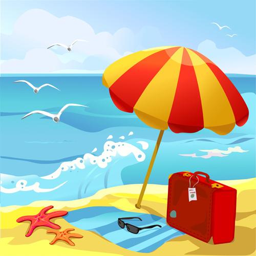 summer beach travel clip art free