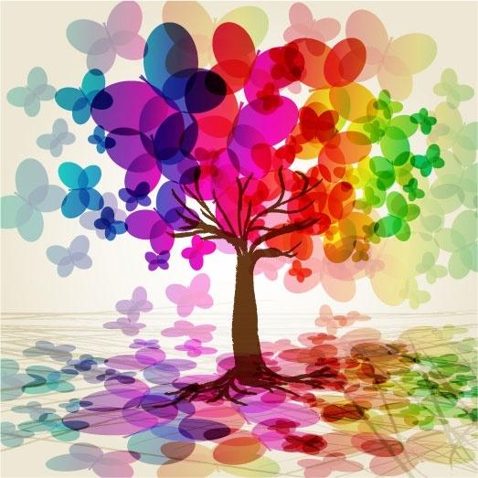 symphony butterfly tree vector