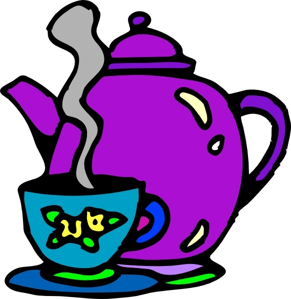 Tea Kettle And Cup clip art