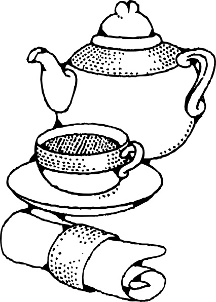 Teapot And Cup clip art Free vector in Open office drawing