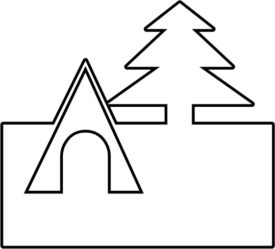 Tent and Tree Free vector in Open office drawing svg