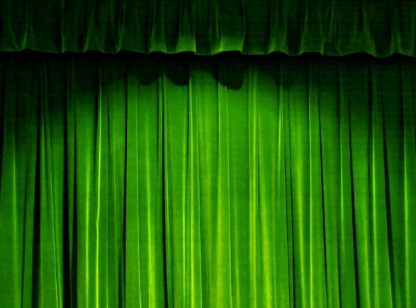 The Green Curtain Of Highdefinition Picture Free Stock Photos In