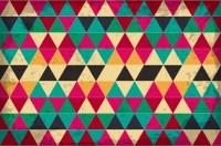 Triangles pattern background colorful vintage repeating ...