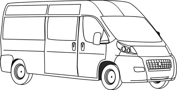 Van Line Art Free vector in Open office drawing svg ( .svg
