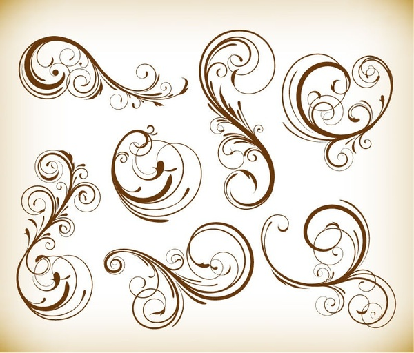 Swirl Floral Vector Free Vector Download 10423 Free