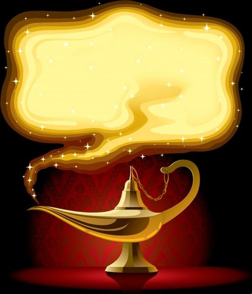 Cartoon aladdin and lamp free vector download 18628 Free