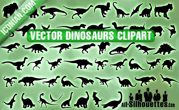 Vector Dinosaurs Clipart Free Vector In Adobe Illustrator