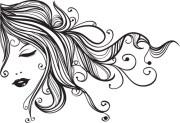 sketch of fashion girl dress free
